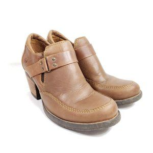 Born Ankle Booties Women's Size 6 Brown Leather